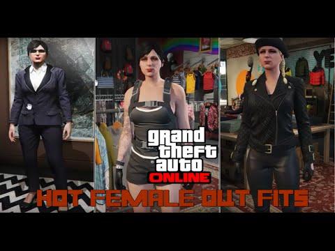 GTA V Online - HOT FEMALE OUTFITS (Lara Croft, Tiffa Lockhart ...