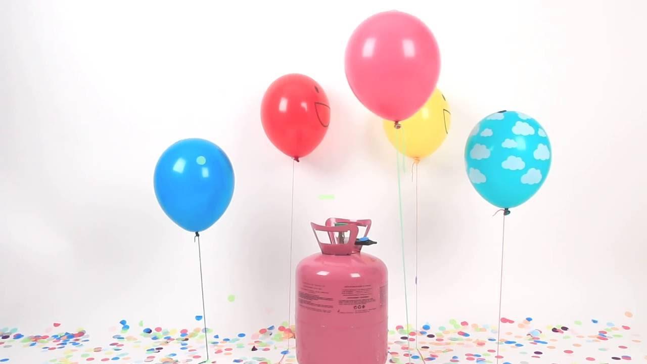 Comment gonfler des ballons en latex avec une bonbonne d - Gonfler ballon sans helium ...