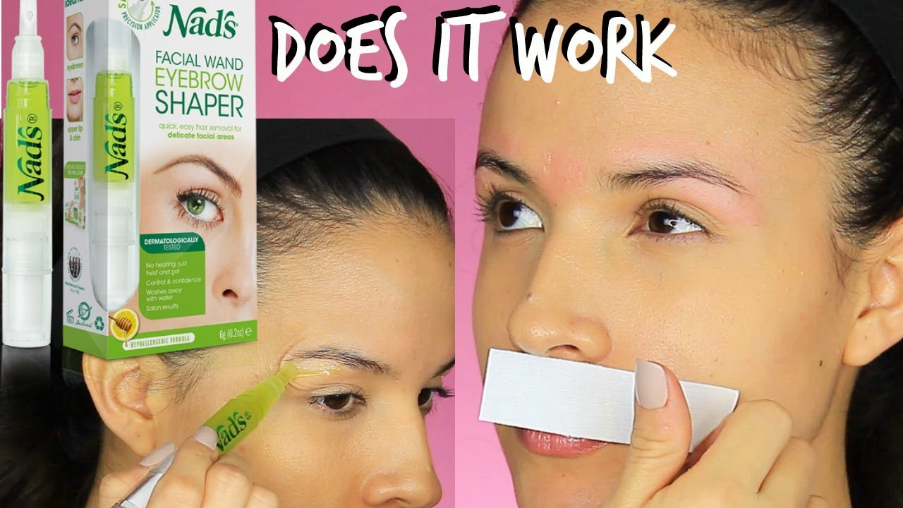 Waxing My Brows At Home Using Nads Does It Work Youtube