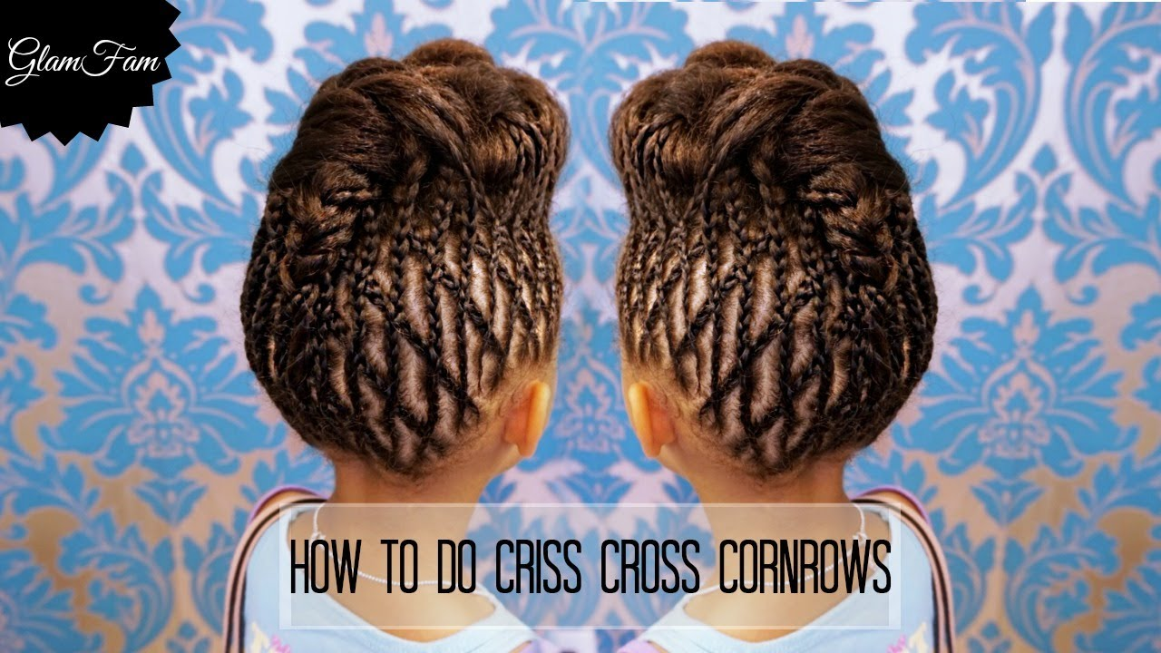 How to do criss cross braids  Braided Hairstyles  YouTube
