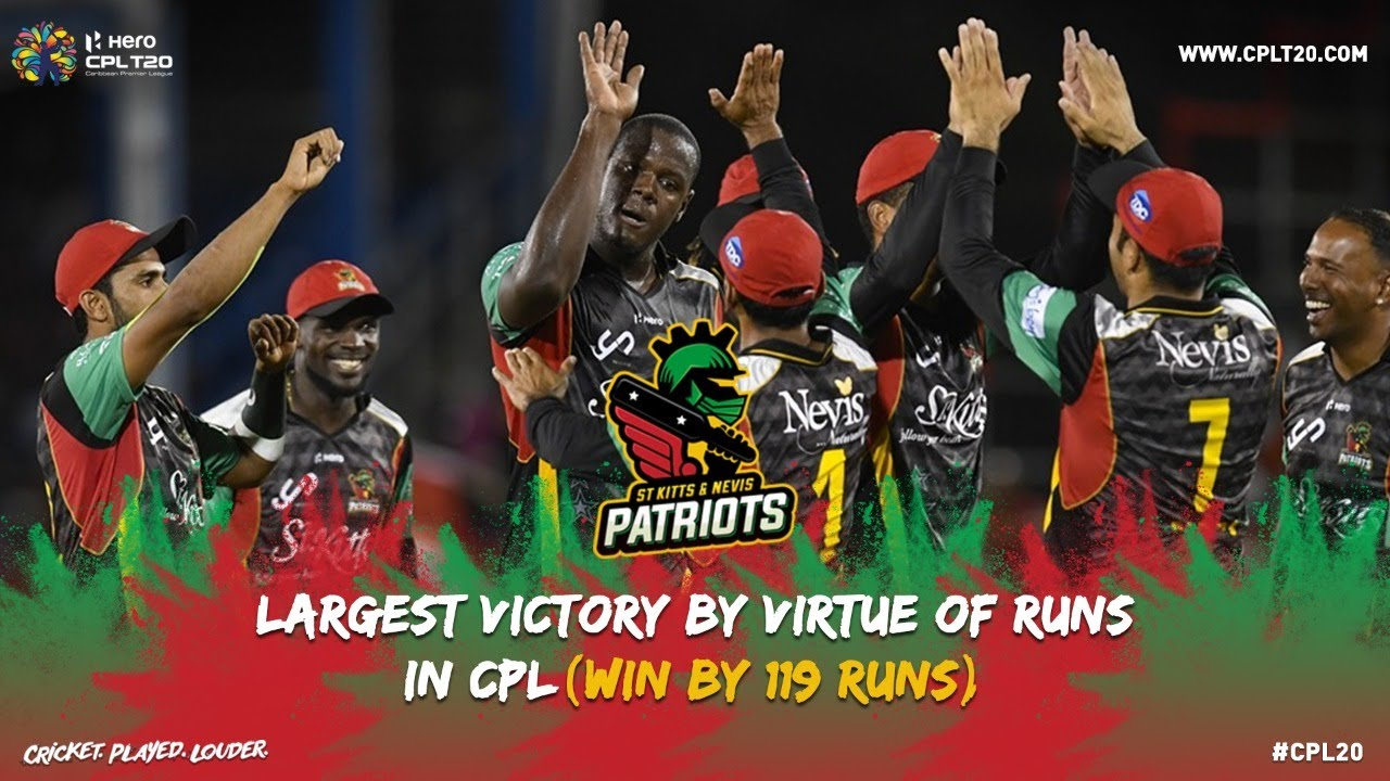 LARGEST VICTORY BY VIRTUE OF RUNS IN CPL HISTORY | #CPL20 ...