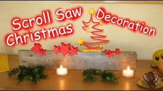 Scroll Saw Christmas Star Decoration - Woodworking