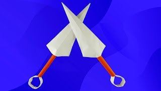 DIY - Как сделать КУНАЙ ИЗ БУМАГИ а4 своими руками. Кунай Наруто. Оружие из бумаги