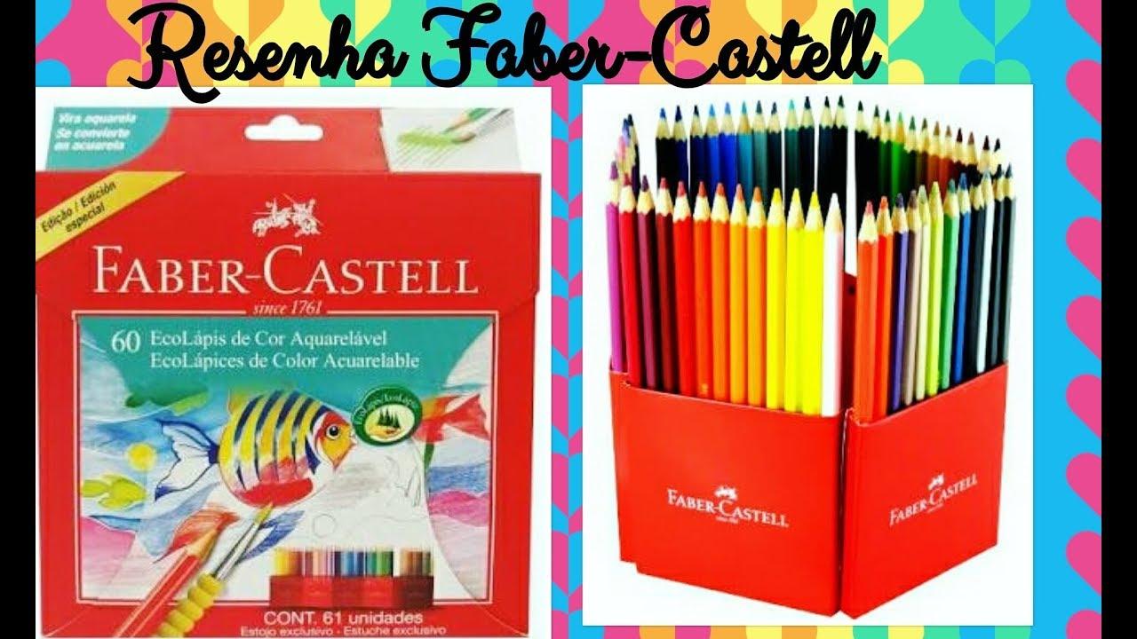 fabercastell 60 cores aquarelaveis  youtube