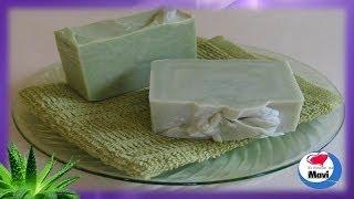 Receta para hacer jabon casero de Aloe Vera - Jabones artesanales
