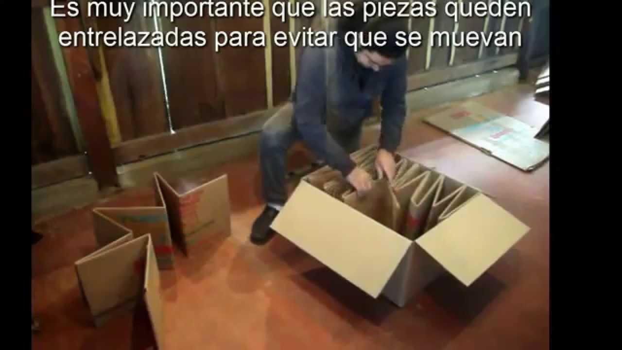 Como hacer una cama para bebes con cart n youtube for Como hacer una pileta de material