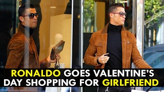 Cristiano Ronaldo Goes Valentine's Day Shopping For Georgina Rodriguez