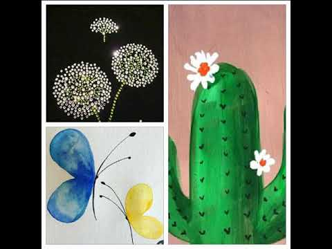 Stay home, stay safe.. Easy painting ideas for kids to keep them enjoying and busy at home