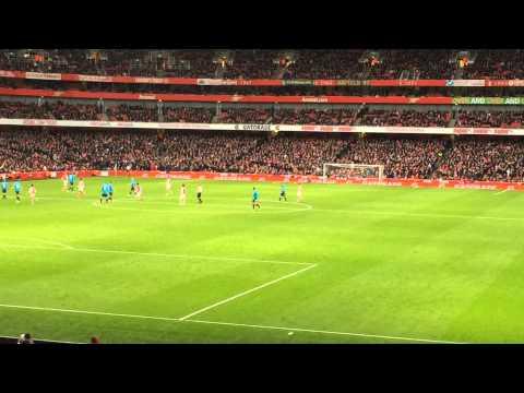Singleton chant at goal kick