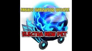 ROBLOX MINING SIMULATOR SUMMER UPDATE NEW CODE NEW ELECTRA PET