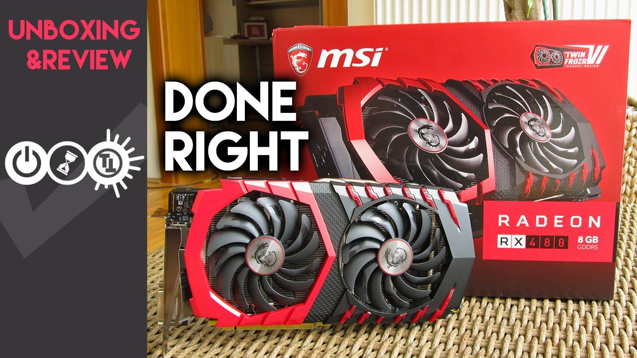 msi rx 480 4gb drivers