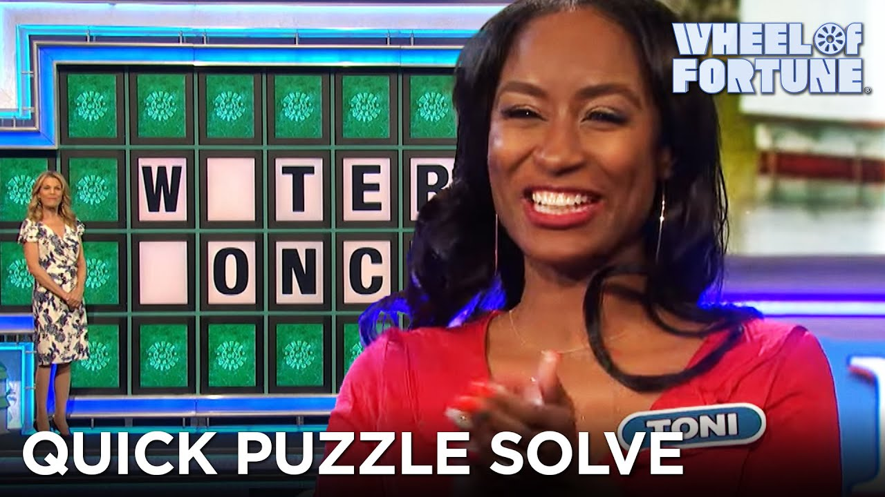 Toni Quickly Solves the Bonus Round Puzzle | Wheel of Fortune