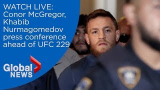 LIVE: Conor McGregor and Khabib Nurmagomedov face off in press conference ahead of UFC 229