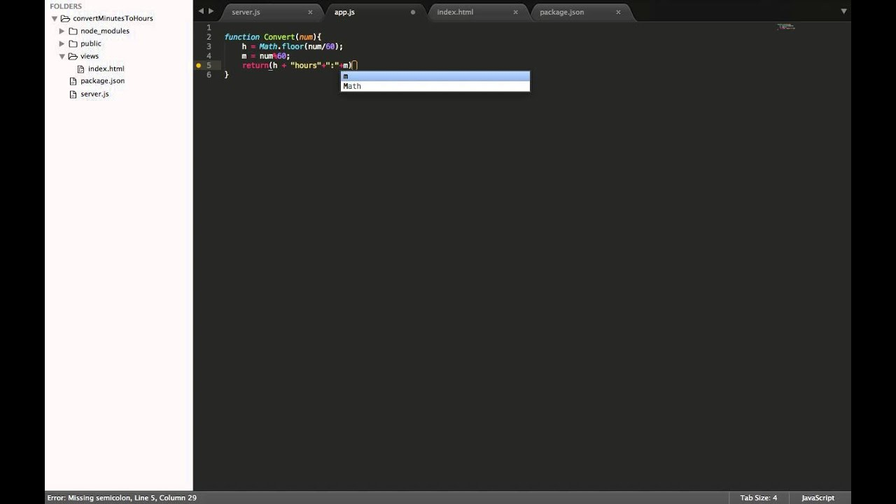 Intro to Javascript - Convert Minutes