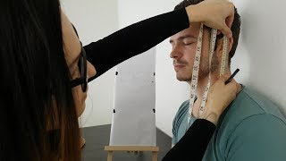 ASMR Detailed Face Measuring & Documentation