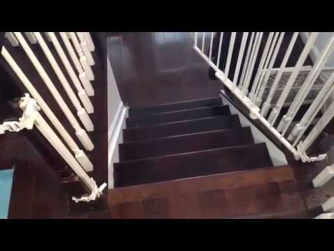 Dangerous Regalo Top Of Stairs Baby Gate Youtube