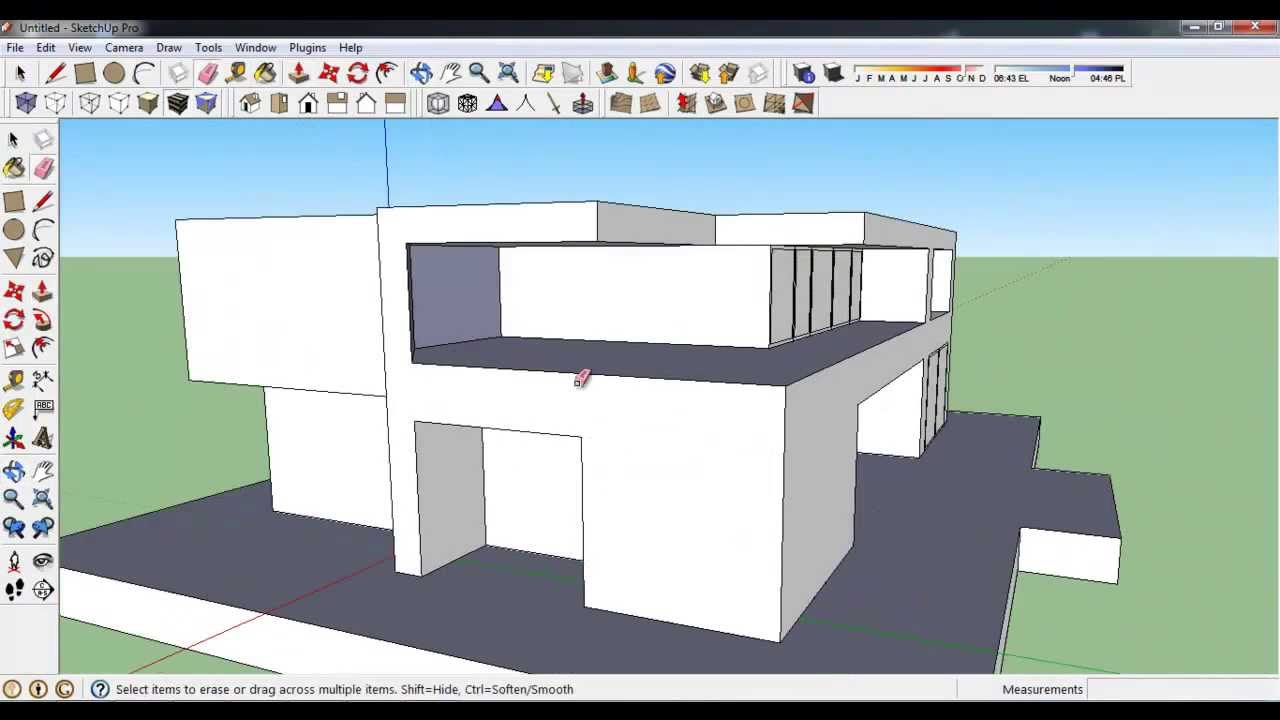 How to make Modern House in Google Sketchup - YouTube