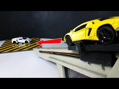 Amazing Toys Car Lamborghini sv lp750-4 Vs Fast & Furious 7 Lykan Hypersport Crash Test