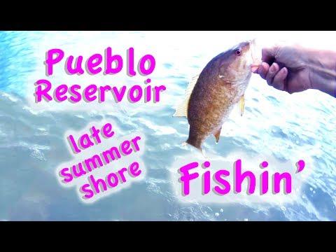 Pueblo Reservoir Shore Fishing Late Summer Colorado