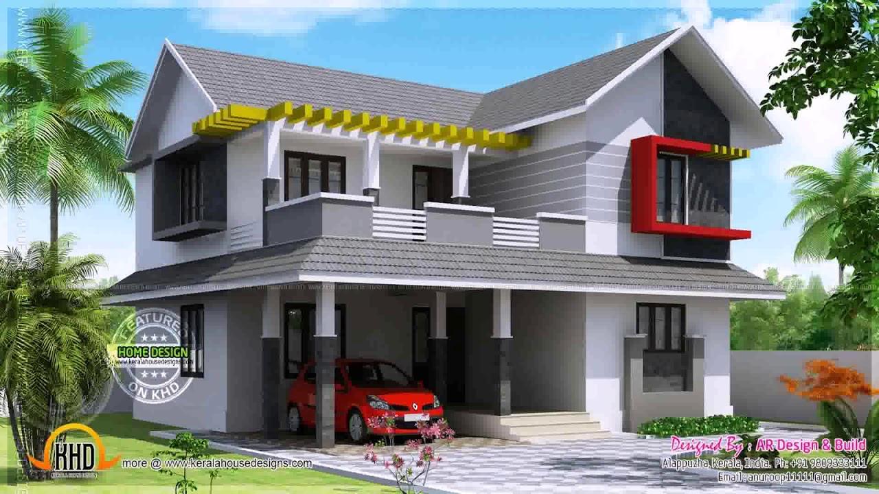 Modern house boundary wall design