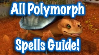 Jessiehealz - All Polymorph Mage Spells 5.4.8 (World of Warcraft)