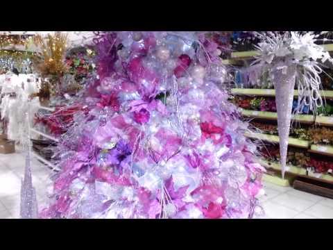 Decoracion arboles de navidad 2017 blanco morado parte 4 - Decoraciones del arbol de navidad ...