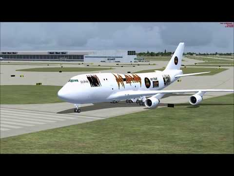 FSX Xtreme go around in this full flight from Detroit to St Louis with Boeing 747 Def Leppard