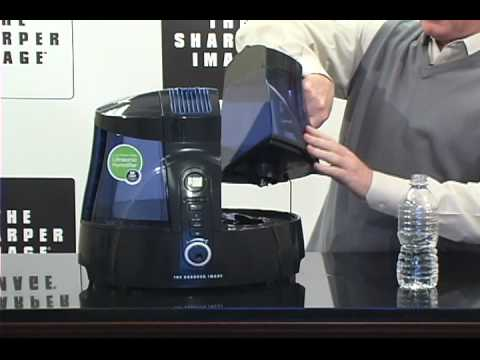 Sharper Image Ultrasonic Uv Humidifier Product Overview Youtube