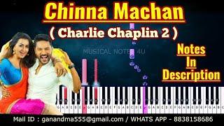 Chinna Machan piano notes | charlie chaplin 2  | Musical notes 4u