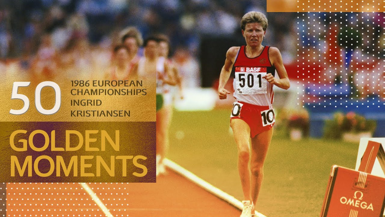 Ingrid Kristiansen wins gold with a top class performance | 50 Golden Moments