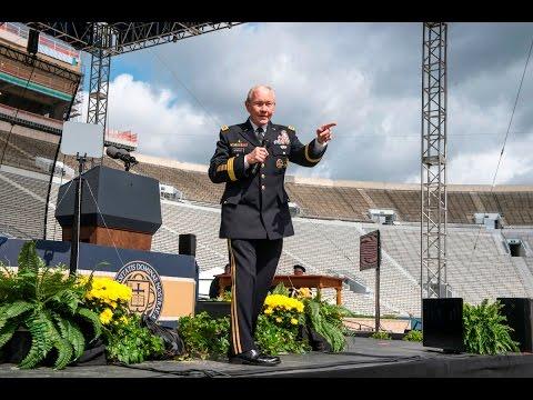 Notre Dame Commencement 2016: Ret. Gen. Martin E. Dempsey addresses the graduates