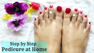 How to do pedicure at home | Step by step procedure | SensationalSupriya