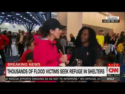 Mother At Houston Shelter Goes Off On CNN Reporter