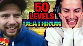 CE DEATHRUN NEON 50 LEVEL EST BEAUCOUP TROP BEAU !! Ft Michou Fortnite Créative