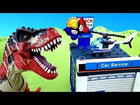 Dinosaure dans la ville des voitures! Histoire pour enfants en français