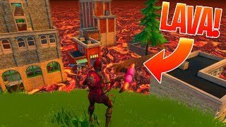 NEW FORTNITE SKIN GLITCH! THE FLOOR IS LAVA CHALLENGE! (Fortnite Battle Royale)