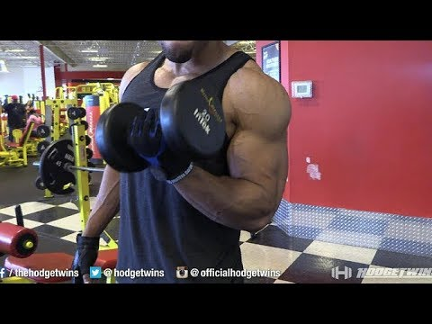 Lightweights To Build Huge Biceps @hodgetwins