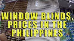 Window Blinds, Styles and Prices In The Philippines.