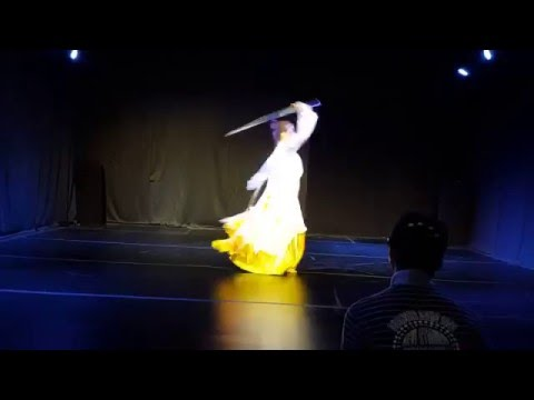 "martial art - Sword dance team in korea""ji mu dan""(title is elegance )"