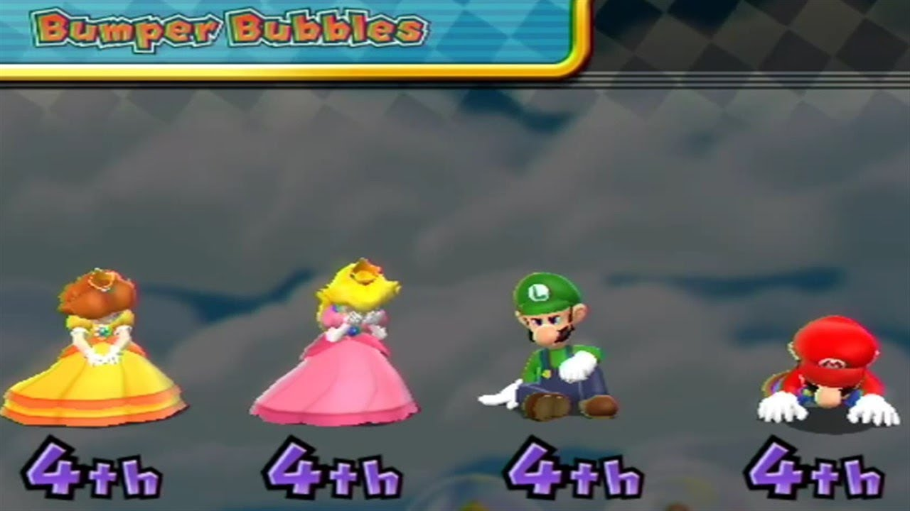 Mario Party 9 〇 Bumper Bubbles 4 Players Draw 【stupid Cpu