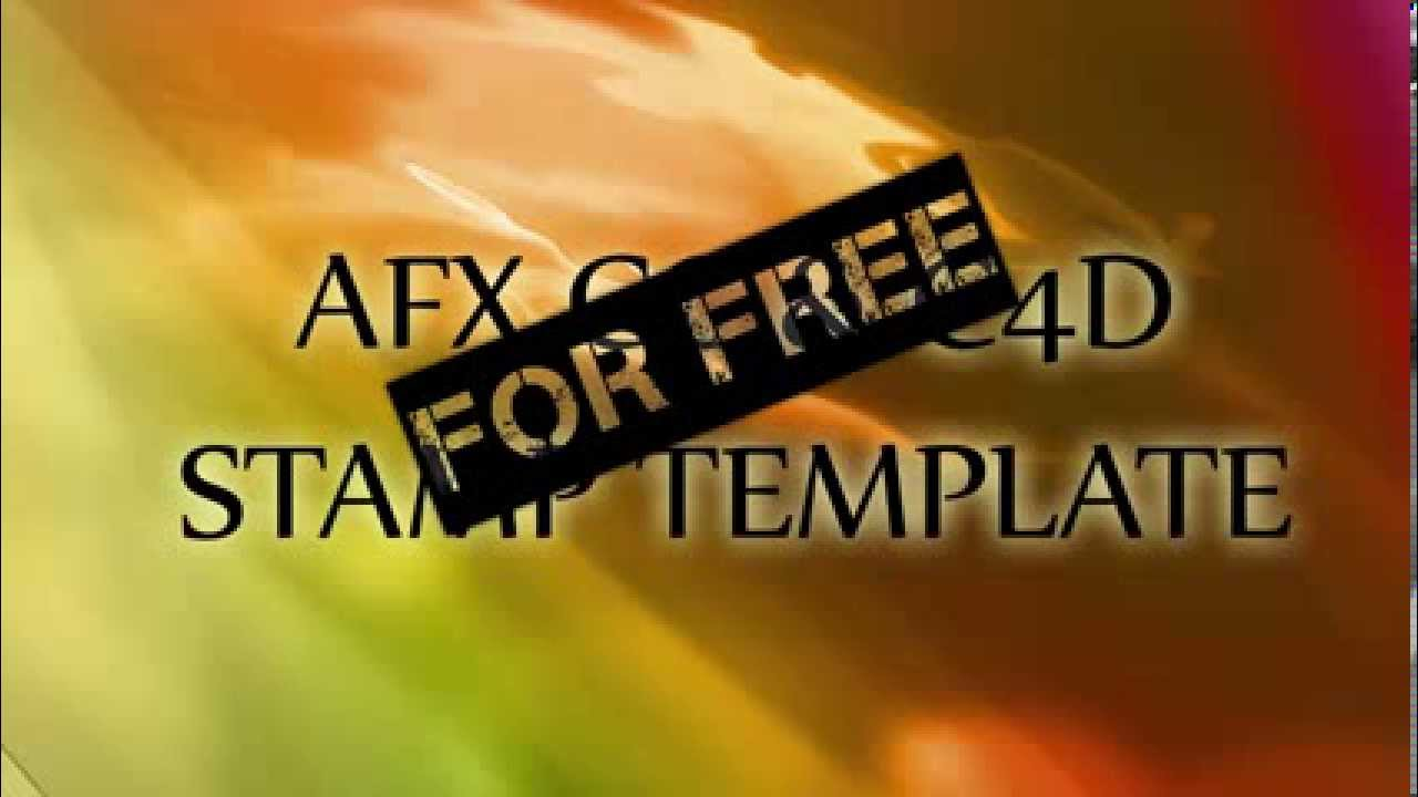 Stamp effect template afx and c4d for free hd youtube for Afx templates