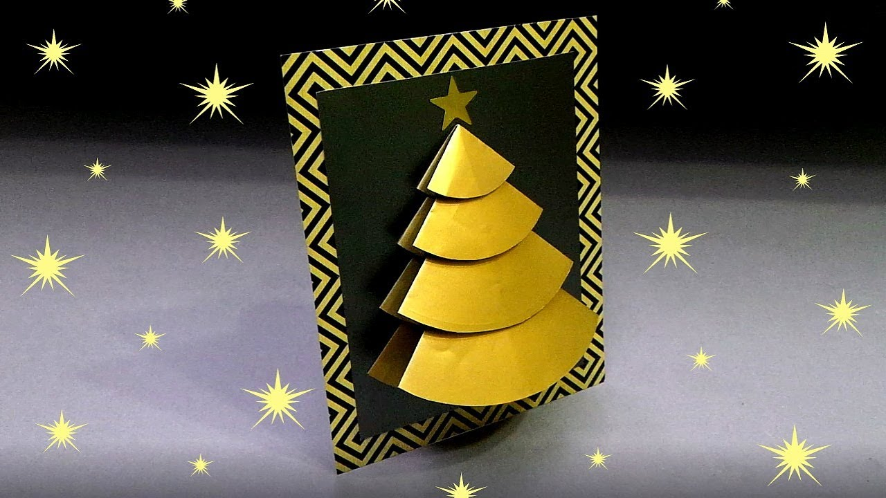 Diy 3d Christmas Tree Card Very Easy How To Make