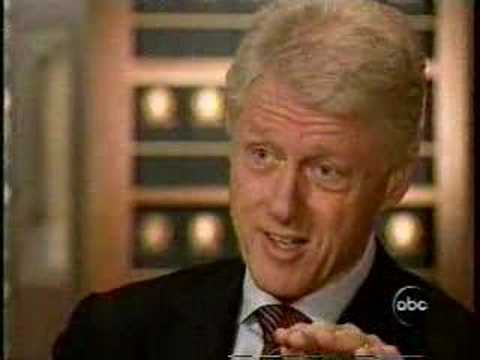 "President Clinton to Peter Jennings ""Don't go there Peter!"""