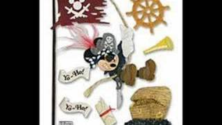 Walt Disney Pirate Mickey Mouse Scrapbook Craft Stickers