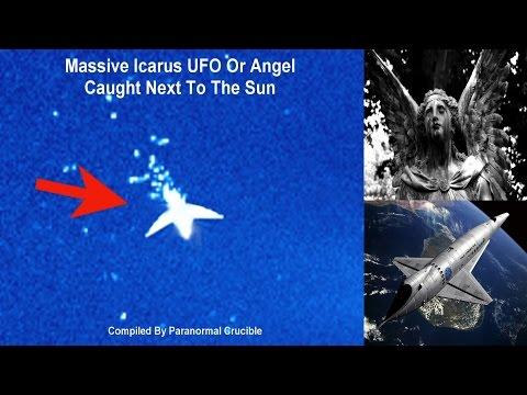Massive Icarus UFO Or Angel Caught Near The Sun