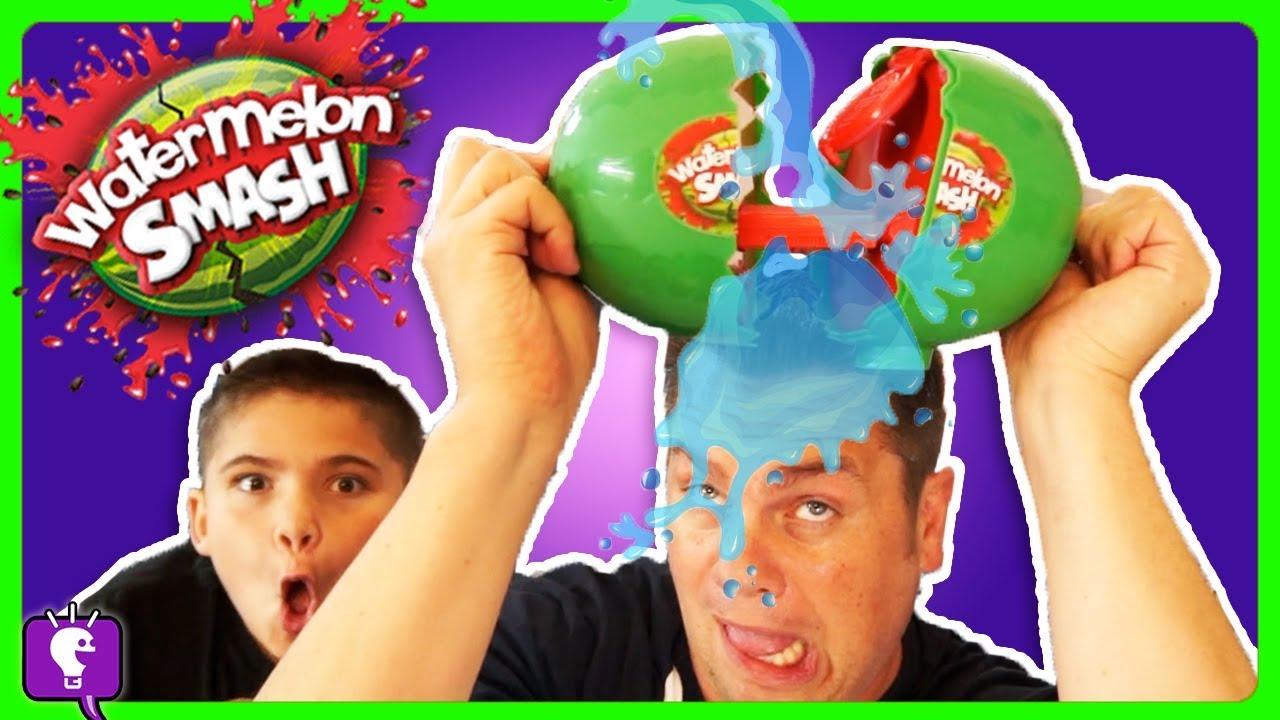 WATERMELON SMASH GAME CHALLENGE with HobbyKids!