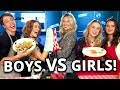 BOYS VS. GIRLS GRILLED CHEESE CHALLENGE W/ MY DEAD EX CAST | Gettin' Grilled
