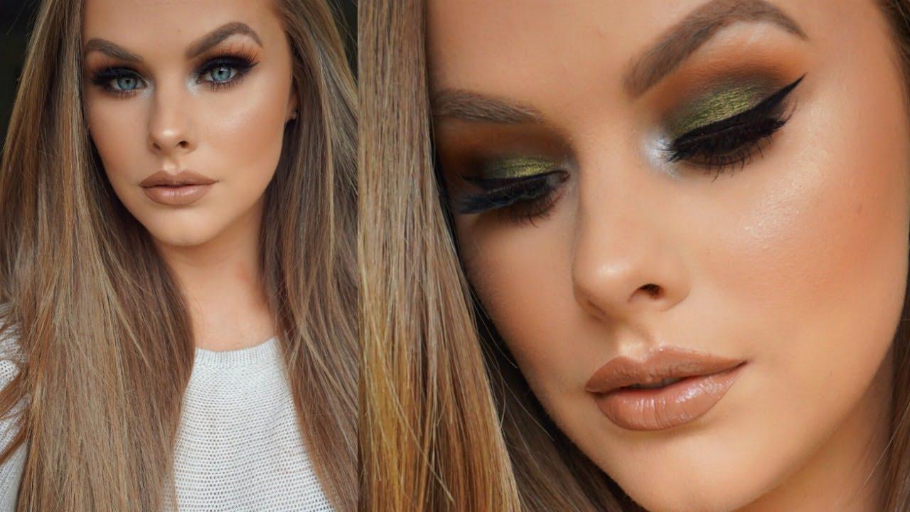 olive green eyeshadow tutorial - youtube