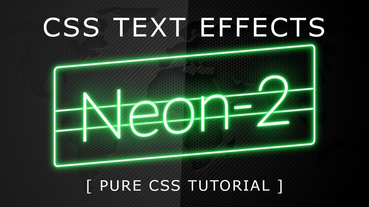 CSS Neon Light Text Effects 2 - Css Text Effects - Glowing Text Animation  Effect with Html5 and CSS3