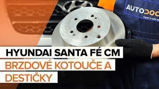 Jak vyměnit zadní brzdové kotouče a zadní brzdové destičky na HYUNDAI SANTA FÉ CM [NÁVOD]
